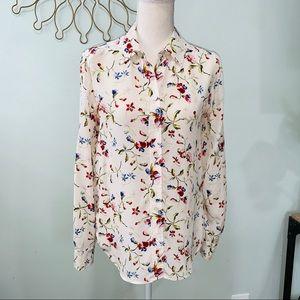 Equipment Brett Floral Cadence Blouse silk top